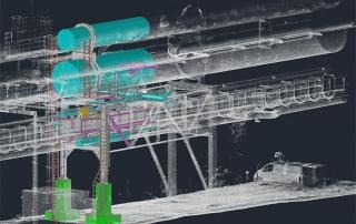 3D-Punktwolke einer Rohrleitung