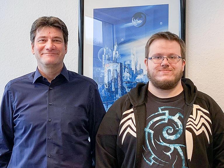 Mark-André Büchner, der sein Bachelorprojekt bei PV ANSPERG mbh umsetzte