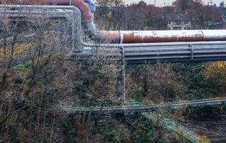 Bild einer Koksgasleitung