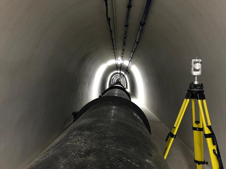 Messgerät in einem Tunnel